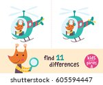 find the differences. kids... | Shutterstock .eps vector #605594447