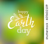 typographic design for earth... | Shutterstock .eps vector #605602109