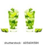 mojito | Shutterstock . vector #605604584