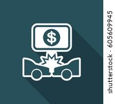 car insurance payment   dollars ... | Shutterstock .eps vector #605609945
