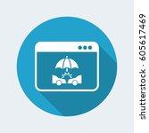 web service   vector flat icon | Shutterstock .eps vector #605617469