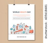 poster design template with... | Shutterstock .eps vector #605618681