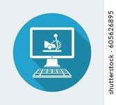 car crash   web assistance... | Shutterstock .eps vector #605626895