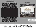 vector laser cutting. | Shutterstock .eps vector #605637404
