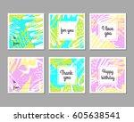 set of creative universal... | Shutterstock .eps vector #605638541