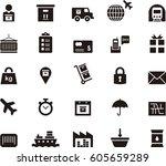 Transportation Black Icons