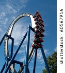 a rollercoaster at a theme park ... | Shutterstock . vector #60567916