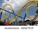a rollercoaster at a theme park ... | Shutterstock . vector #60567919