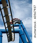 a rollercoaster at a theme park ... | Shutterstock . vector #60567937