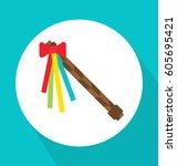 czech traditional easter... | Shutterstock .eps vector #605695421