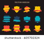 labels and ribbon retro style... | Shutterstock .eps vector #605702324