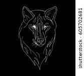 wolf. | Shutterstock .eps vector #605702681