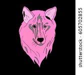 wolf. | Shutterstock .eps vector #605702855