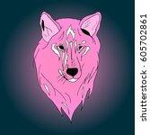 wolf. | Shutterstock .eps vector #605702861