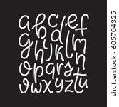white modern type   script  ...   Shutterstock .eps vector #605704325