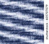 abstract indigo dyed effect... | Shutterstock . vector #605707079