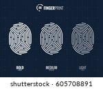 vector fingerprint icons set ...