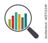 graph and magnifier | Shutterstock .eps vector #605712149