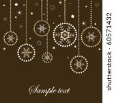 christmas card with snowflakes | Shutterstock .eps vector #60571432