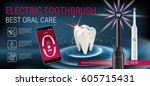 electric toothbrush ads. vector ...