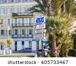 nice  france  on january 9 ... | Shutterstock . vector #605733467