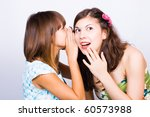 two happy young girlfriends... | Shutterstock . vector #60573988