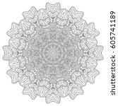 black and white hexagonal... | Shutterstock .eps vector #605741189