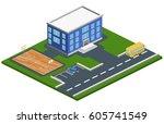 isometric 3d concept...   Shutterstock . vector #605741549
