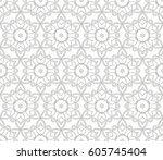 abstract seamless geometric... | Shutterstock .eps vector #605745404