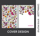 ready made cover design for a... | Shutterstock .eps vector #605746661