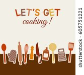 menu or recipe book design. set ... | Shutterstock .eps vector #605751221