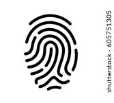 finger print vector icon... | Shutterstock .eps vector #605751305