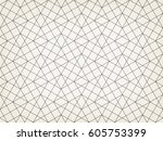 abstract geometric pattern with ... | Shutterstock .eps vector #605753399