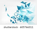geometric abstract futuristic... | Shutterstock .eps vector #605766311