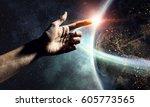 Small photo of Idea of Earth creation . Mixed media