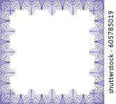 square border frame  abstract... | Shutterstock .eps vector #605785019