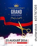 grand opening invitation card.... | Shutterstock .eps vector #605787305