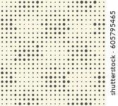seamless halftone pattern.... | Shutterstock .eps vector #605795465