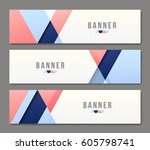 set of banner templates. bright ... | Shutterstock .eps vector #605798741