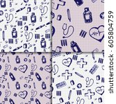healthcare and medicine. vector ... | Shutterstock .eps vector #605804759