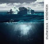 iceberg  marine backgrounds... | Shutterstock . vector #605804834