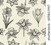 vector frame design with hand... | Shutterstock .eps vector #605811947