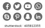 valencia  spain   march 20 ... | Shutterstock . vector #605812355