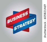 business strategy arrow tag... | Shutterstock .eps vector #605821469