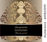 victorian rich background with... | Shutterstock .eps vector #605823395