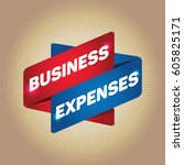 business expenses arrow tag... | Shutterstock .eps vector #605825171
