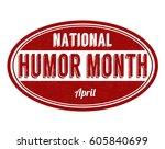 national humor month grunge...   Shutterstock .eps vector #605840699