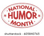 national humor month grunge...   Shutterstock .eps vector #605840765