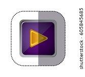 purple emblem play button ...