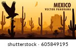 Vector Panorama Of Mexico With...